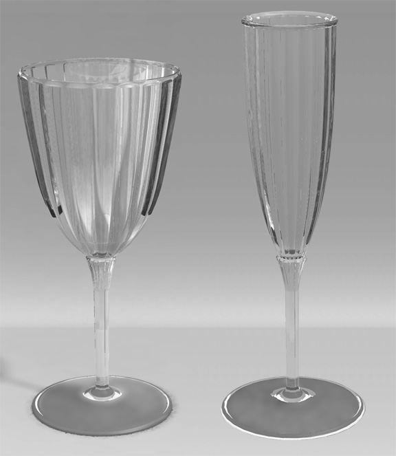 Plasticware glasses